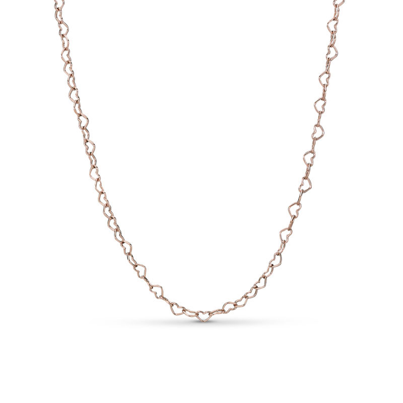 48512d48e PANDORA Rose™ Joined Hearts Necklace 387961-60 ...
