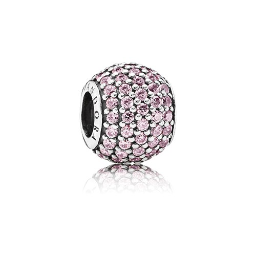 PANDORA Pavé Lights with Light Pink CZ Charm