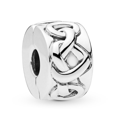 PANDORA Knotted Heart Clip 798035
