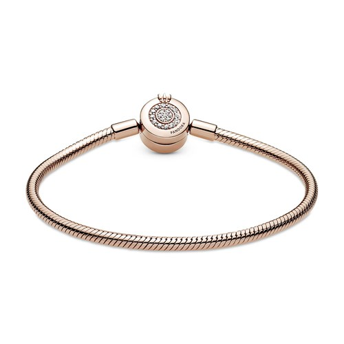 Pandora Rose™ Moments Sparkling Crown O Snake Chain Bracelet