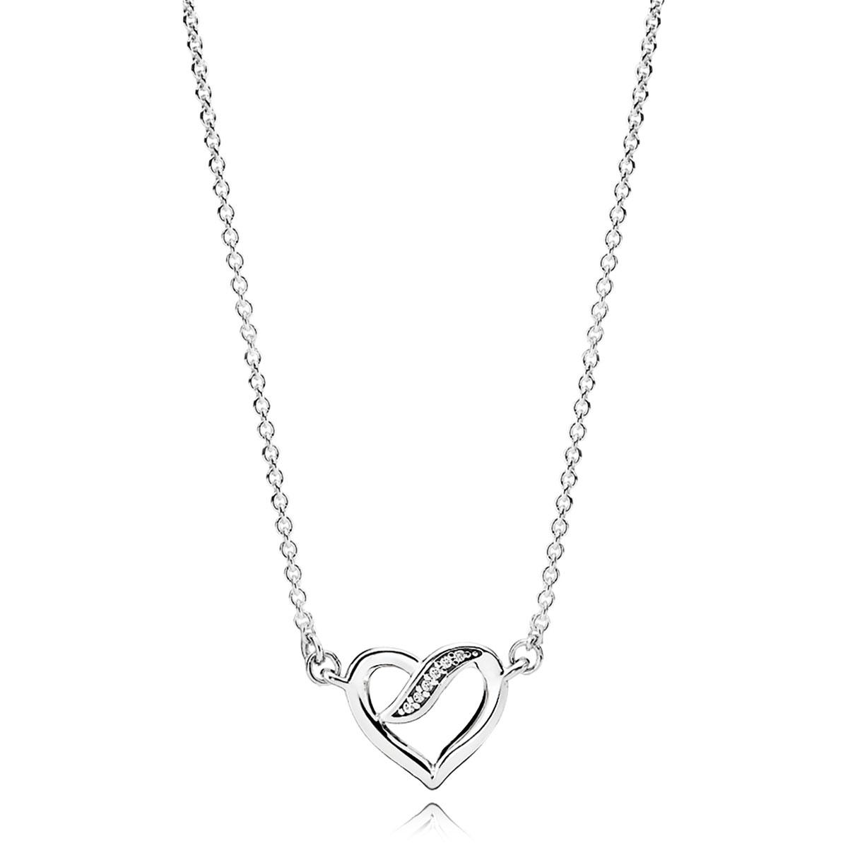 7303ec2027c PANDORA Lock Your Promise Necklace - Pancharmbracelets.com