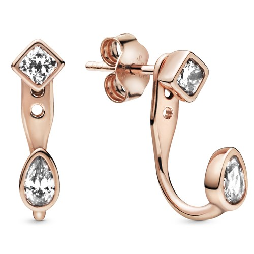 Pandora Rose™ Geometric Shapes Stud Earrings 288509C01