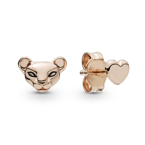 Pandora Rose™ Lion Princess & Heart Stud Earrings 288022EN16