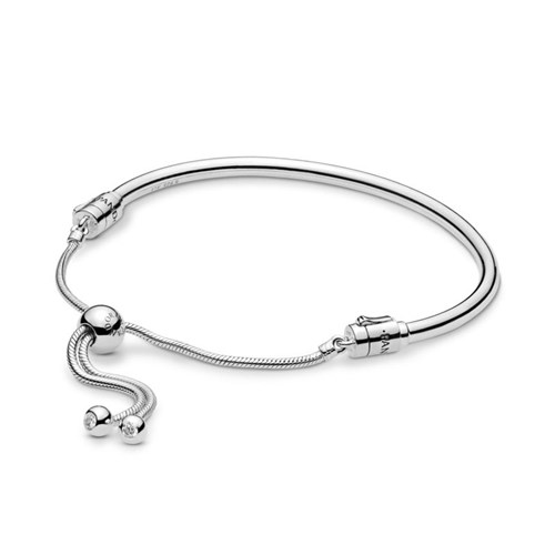 PANDORA Moments Silver Sliding Bangle 597953CZ