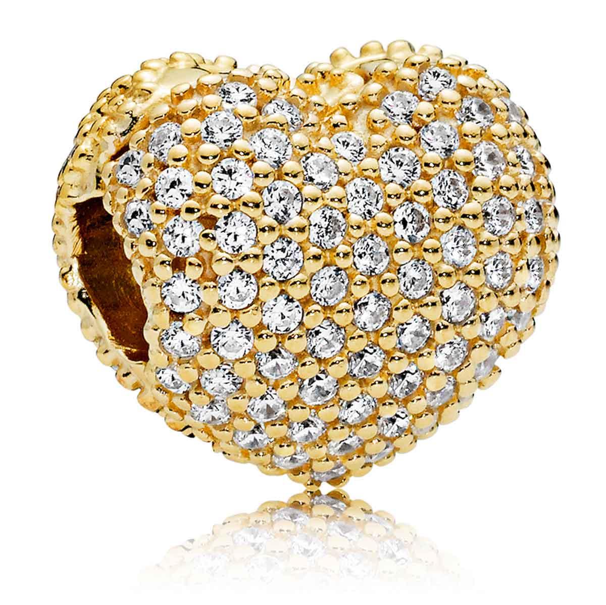 Pandora Shine Pave Open My Heart Clip 767156cz