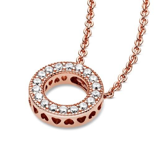 Pandora Rose™ Logo Pavé Circle Collier Necklace