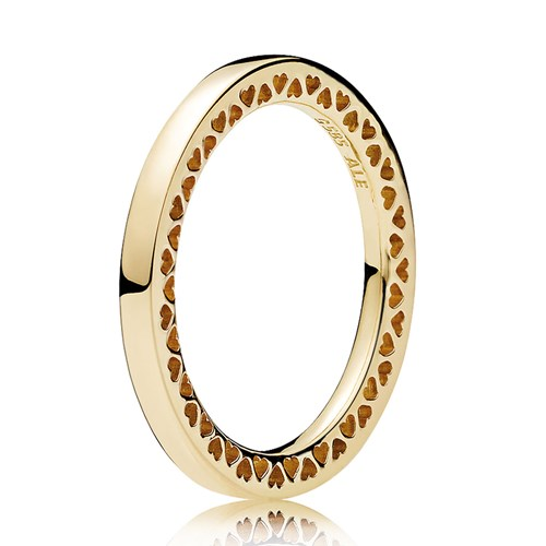 PANDORA Classic Hearts of PANDORA 14K Gold Ring