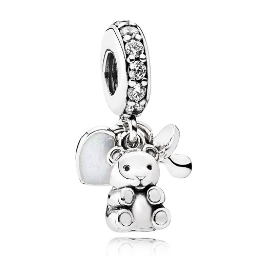 PANDORA Baby Treasures, Clear CZ Dangle Charm