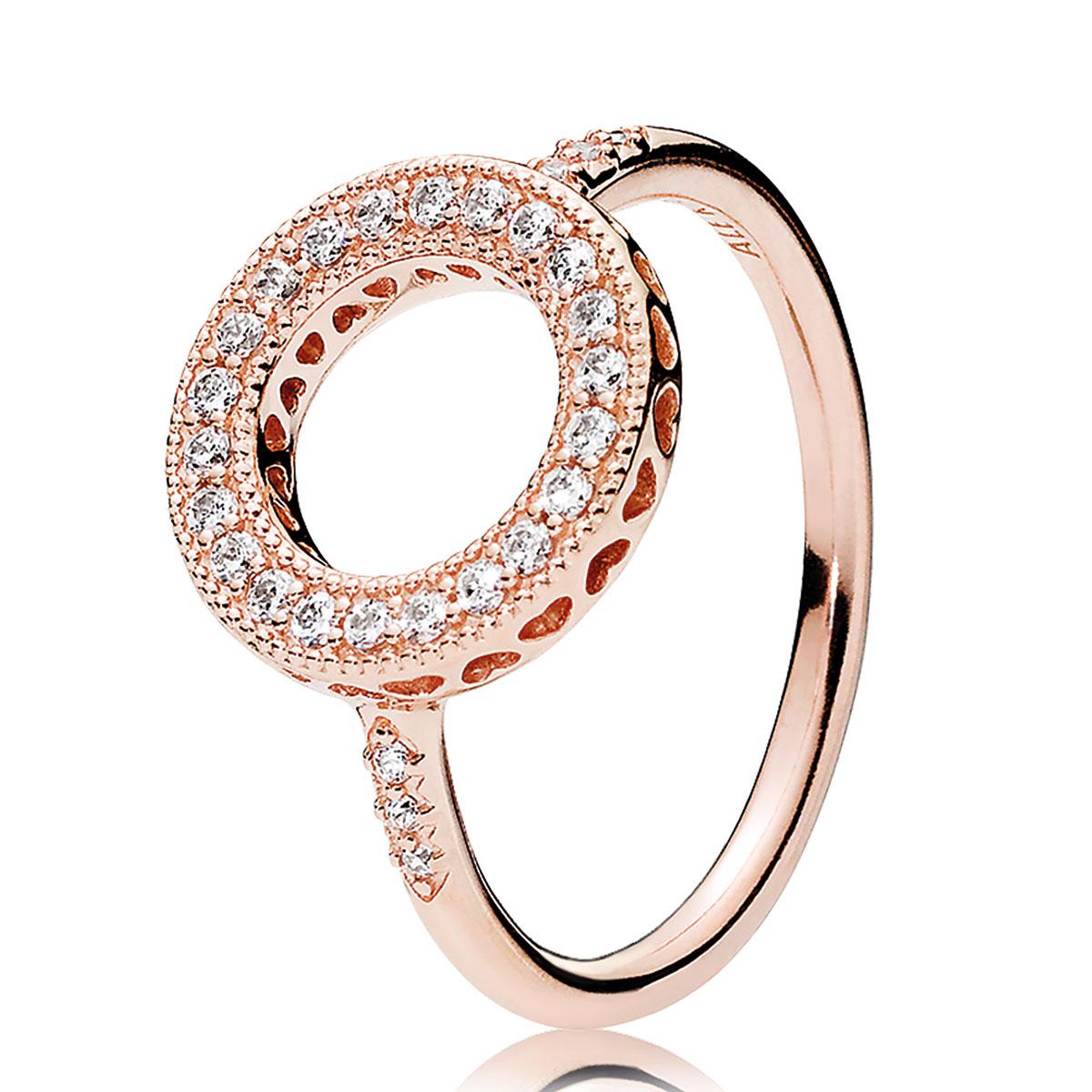 2d9c5ab95 ... usa pandora rose clear cz hearts of pandora halo ring 03c64 d952c
