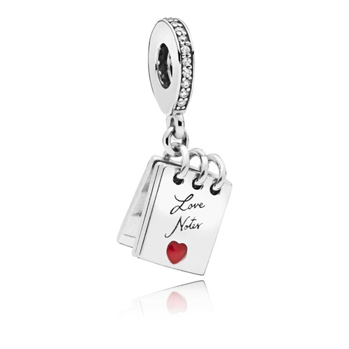 PANDORA Love Notes Red Enamel Dangle Charm 797835CZ