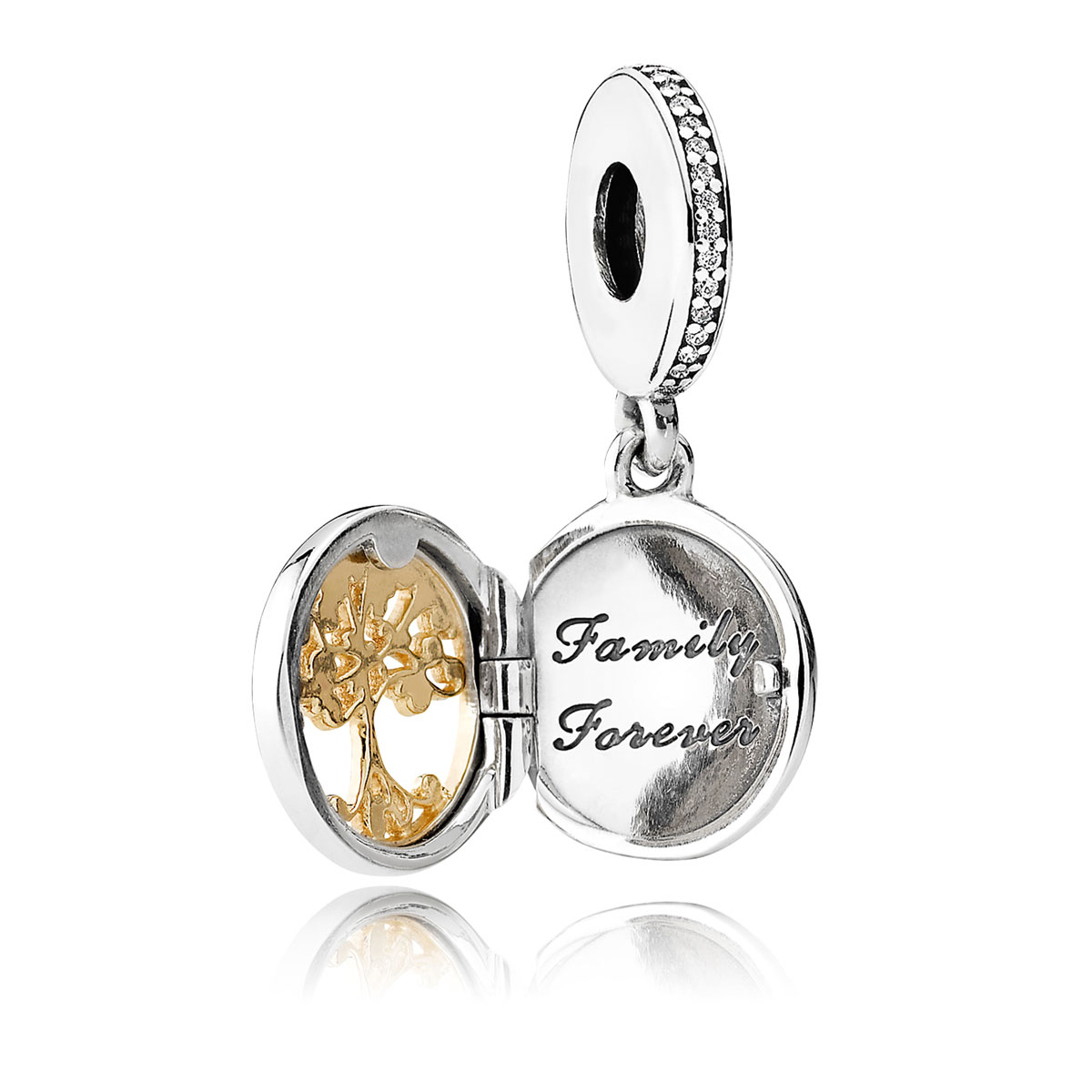 dc3f62444 ... PANDORA Family Roots with Clear CZ Dangle V2