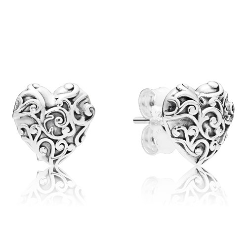 PANDORA Regal Hearts Earring 297693