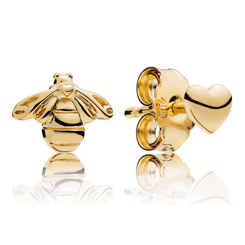 PANDORA Shine™ Heart & Bee Stud Earrings