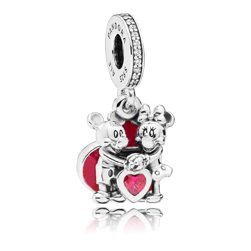 667c0d77b PANDORA Disney, Minnie & Mickey With Love Dangle Charm 797769CZR ...