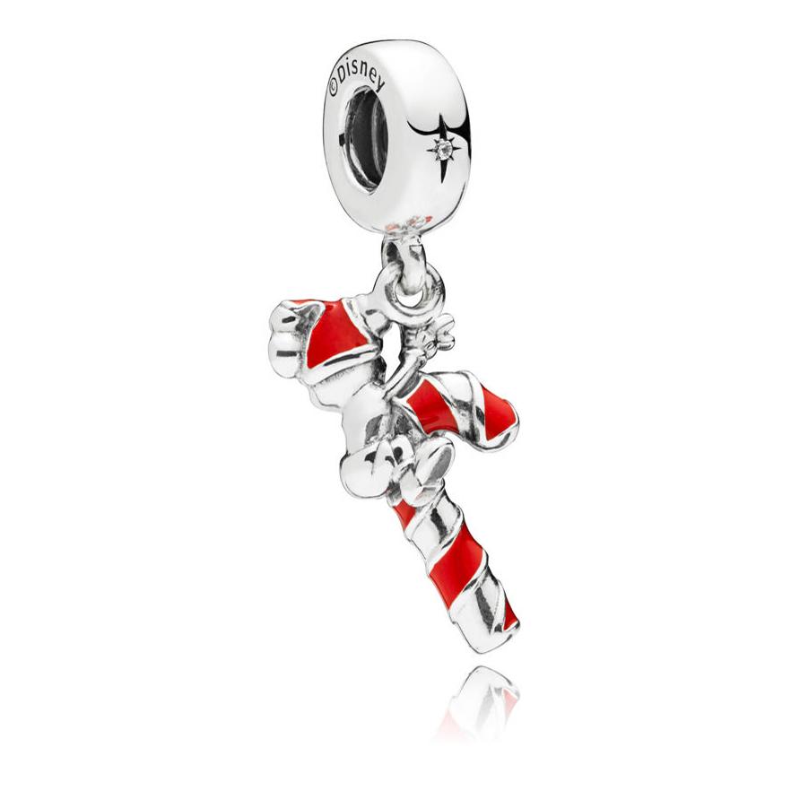 6cb492ebf ... PANDORA Disney Santa Mickey's Candy Cane Dangle Charm 797500EN09
