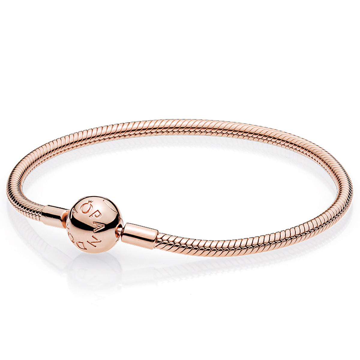 6997458a0 PANDORA Rose Gold Smooth Clasp Bracelet - Pancharmbracelets.com