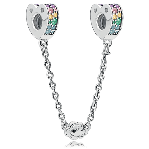 PANDORA Multi-Colored Arcs of Love Safety Chain