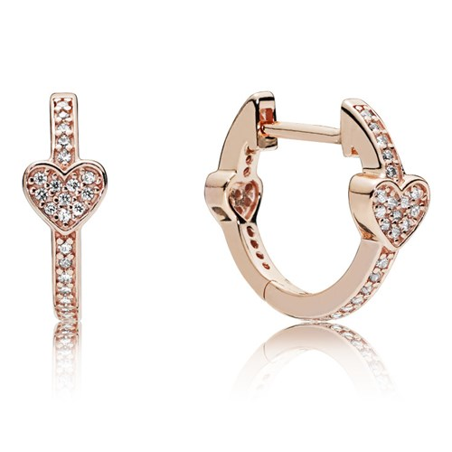 PANDORA Rose™ Alluring Hearts Earrings 287290CZ