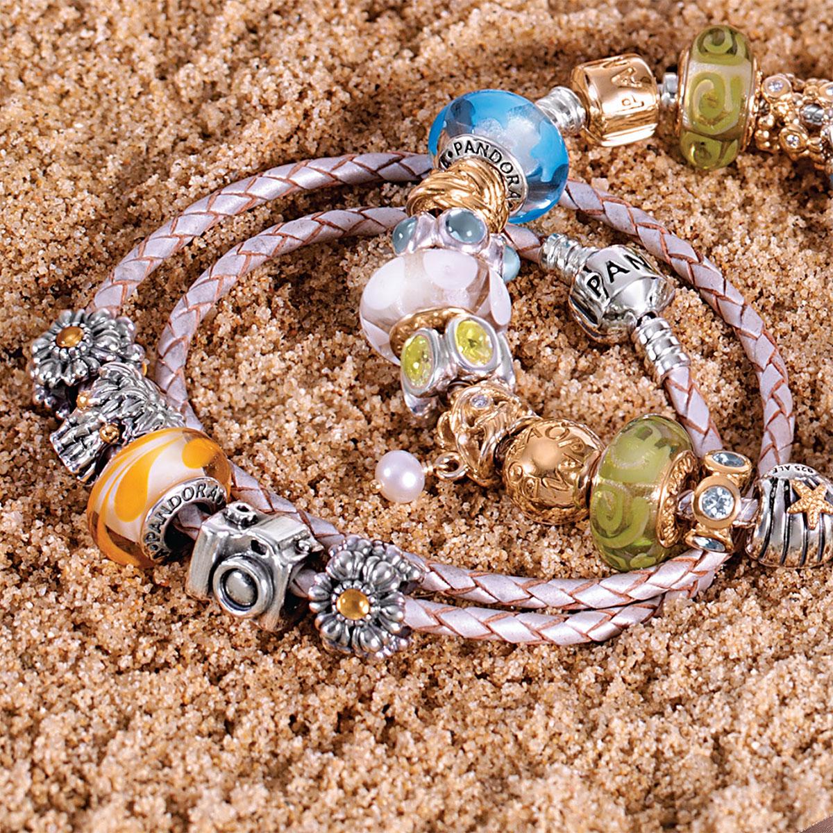 c74919564 Pandora Ivory White Leather Bracelet - Best Bracelet 2018