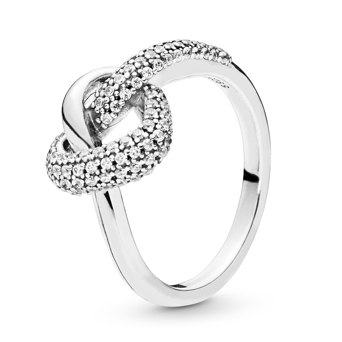 b1a2ab10b PANDORA Knotted Heart Ring 198086CZ ...