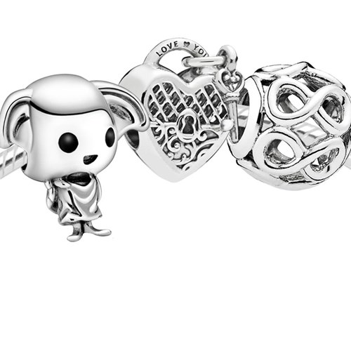 "Pandora Harry Potter ""I Love You As Much As Dobby Loves Socks"" 3996"