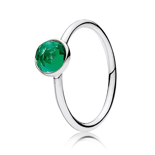 PANDORA May Droplet with Royal-Green Crystal