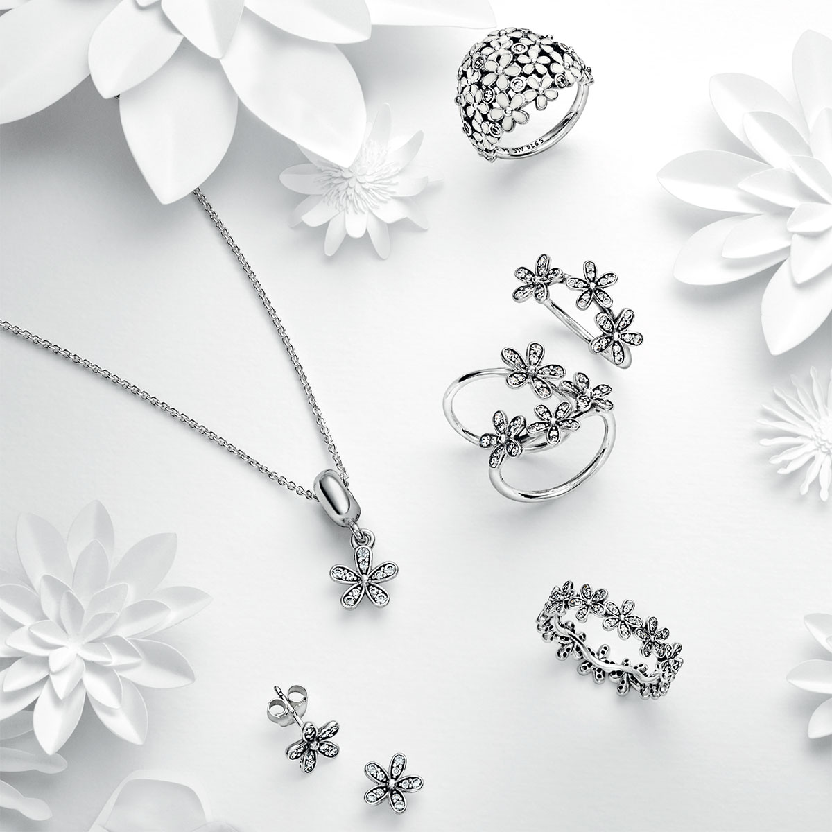 83bed714b PANDORA Dazzling Daisy with Clear CZ Ring - Pancharmbracelets.com