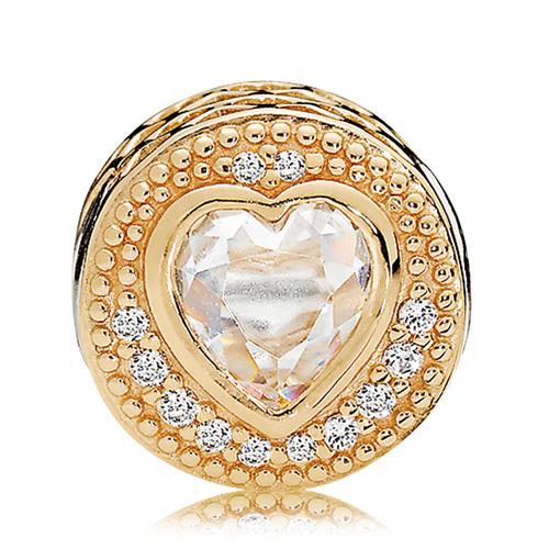 a8927d1d3 PANDORA ESSENCE 14K Gold CZ LOVE Charm - Pancharmbracelets.com