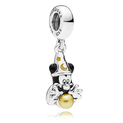 PANDORA Disney Sorcerer Mickey Dangle Charm 797493ENMX