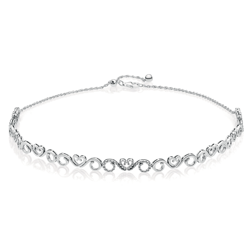 PANDORA Heart Swirls Choker Necklace