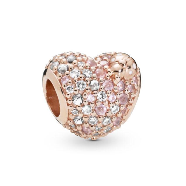 517f5b784 PANDORA Rose™ Gleaming Ladybird Heart Charm 787894NPOMX