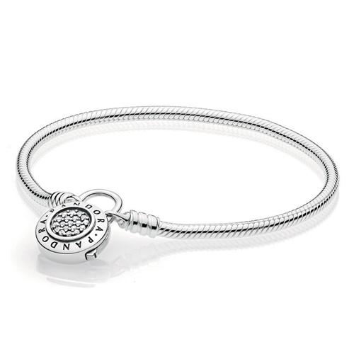 Pandora Signature Padlock Clasp Charm Bracelet