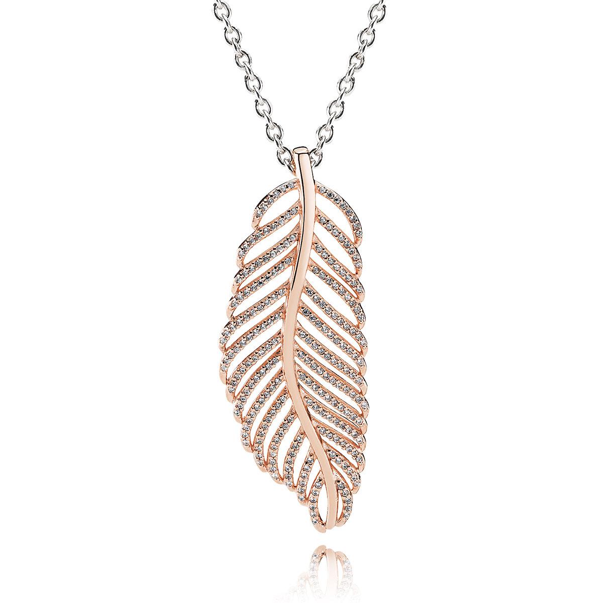 Pandora rose light as a feather pendant pancharmbracelets pandora rose light as a feather pendant on chain aloadofball Gallery