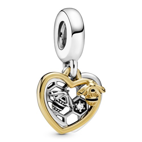 Pandora Shine™ Hearts & Bees Dangle Charm 768838C01