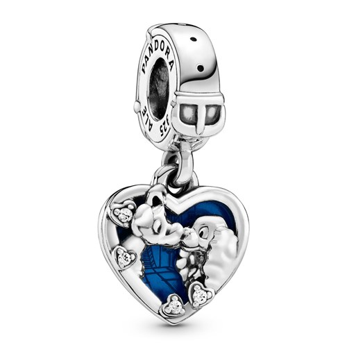 Pandora Disney Lady and the Tramp Heart Dangle Charm 798634C01