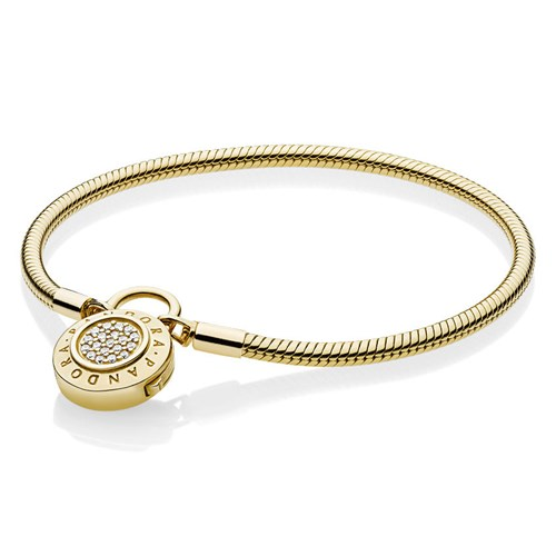 PANDORA Shine™ Moments Smooth Signature Padlock Bracelet 567757CZ