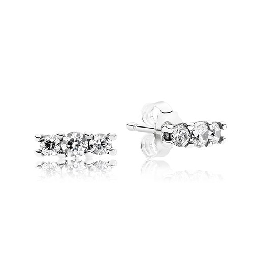 PANDORA Sparkling Elegance with Clear CZ Earrings