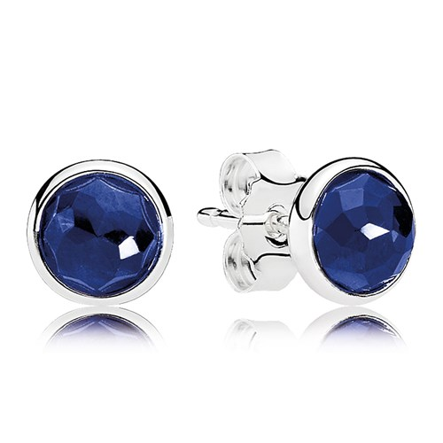 PANDORA September Droplets, Synthetic Sapphire Earrings