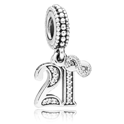 PANDORA 21 Years of Love Dangle Charm 797263CZ