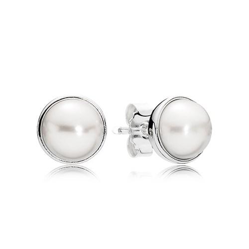 fc2a4365f Elegant Beauty with White Pearl Earrings PANDORA - Pancharmbracelets.com