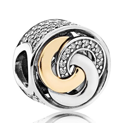 PANDORA Interlinked Circles, Clear CZ Charm