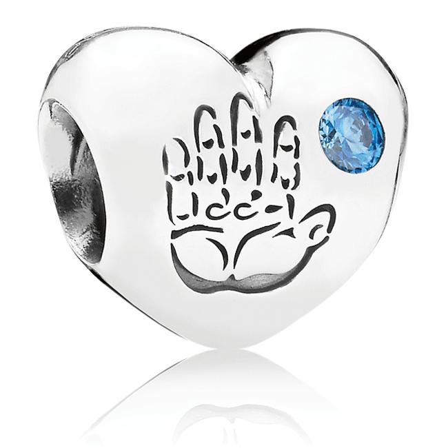 5ea8c4b6e PANDORA Baby Boy Heart Blue CZ Charm ...