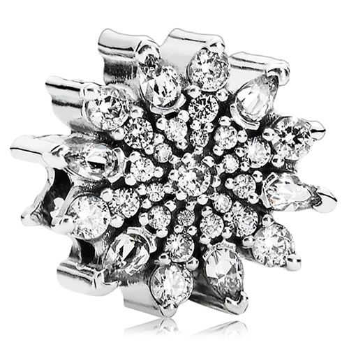 789772418 PANDORA Ice Crystal with Clear CZ Charm-802-3129 - Pancharmbracelets.com