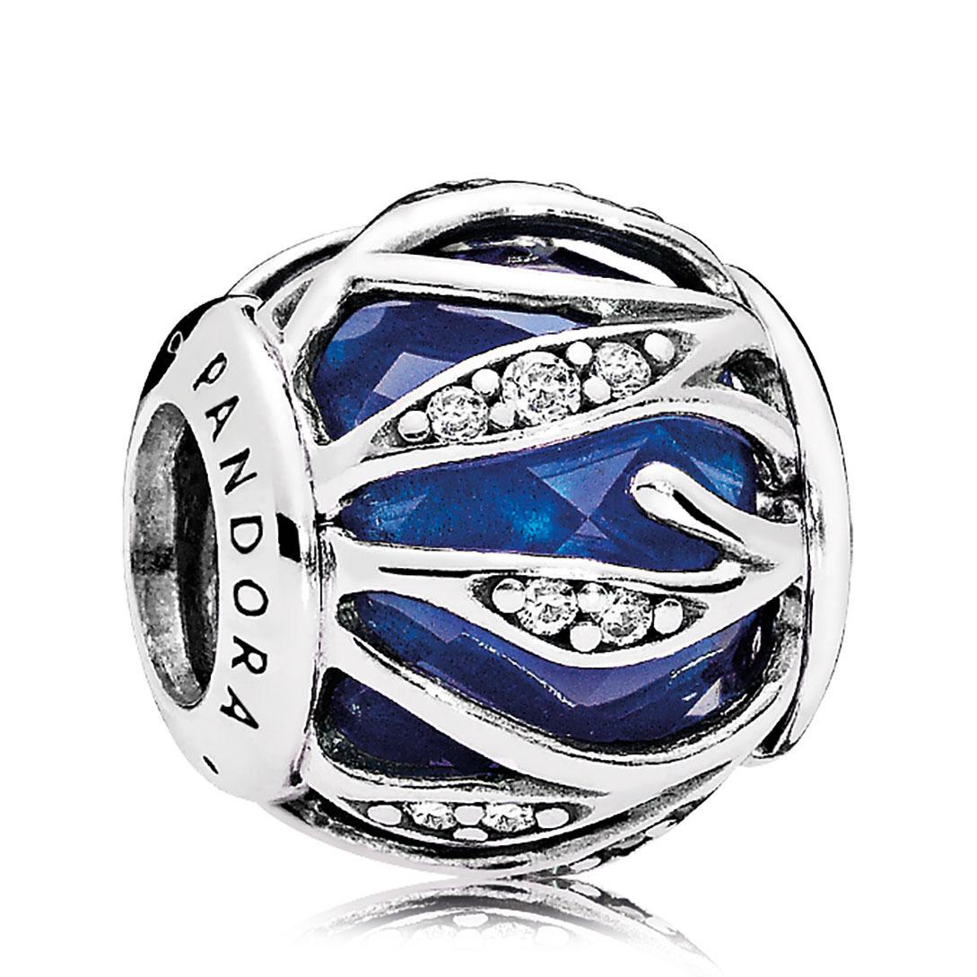12abe6c79 PANDORA Nature's Radiance Royal Blue Crystal & Clear CZ Charm