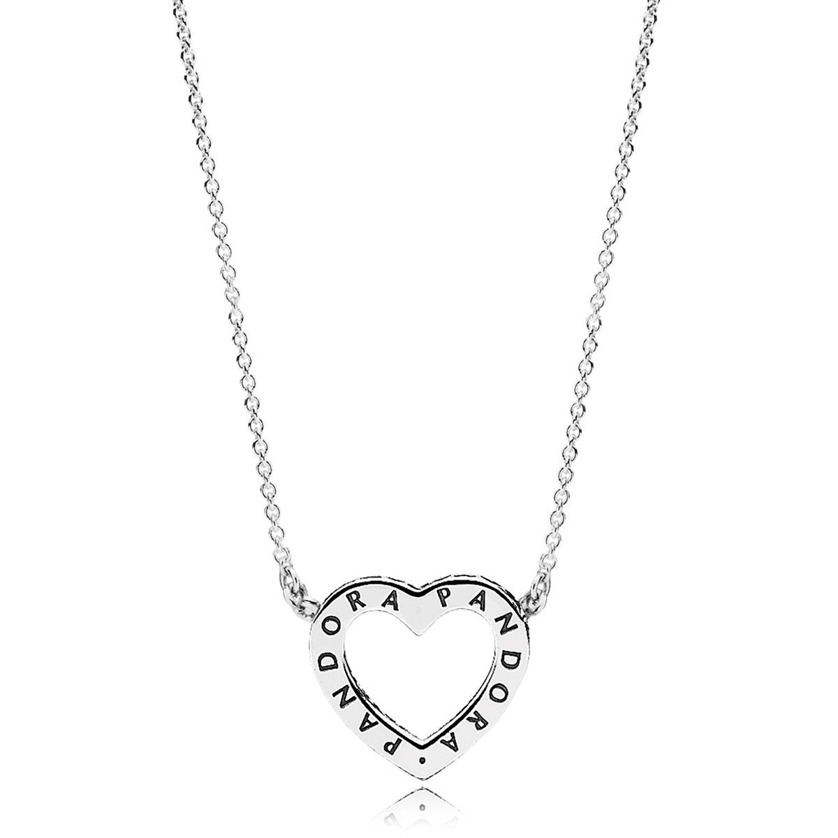 9fbf3367a ... PANDORA Loving Hearts of PANDORA, Clear CZ Necklace Back