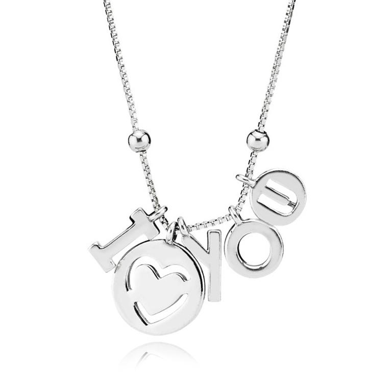 Pandora necklaces pancharmbracelets pandora i love you necklace aloadofball Gallery