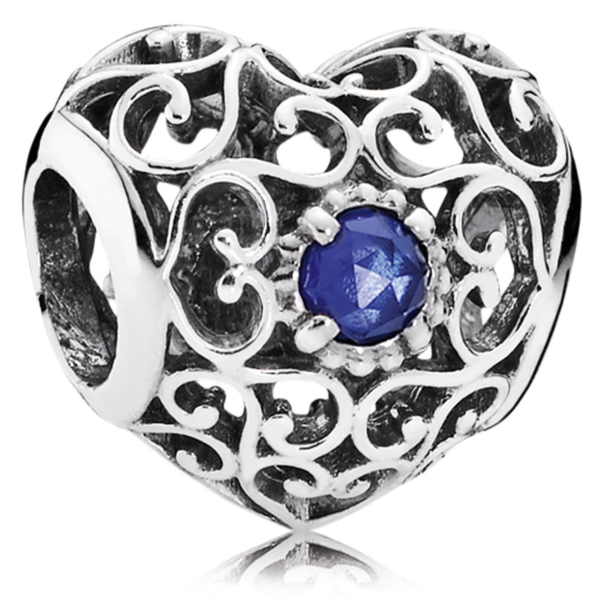 944892950 PANDORA September Signature Heart Charm
