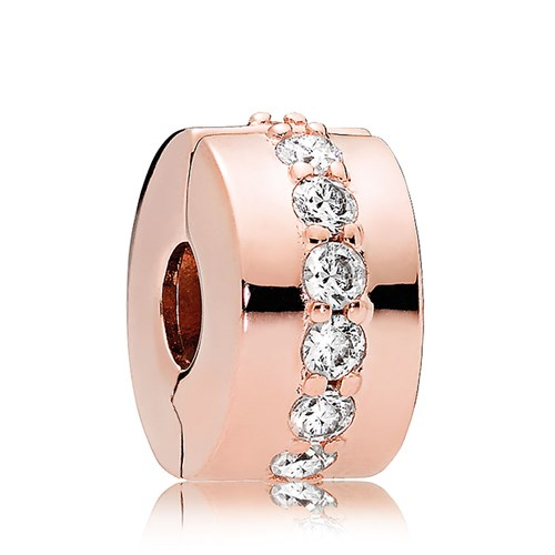 PANDORA Rose Gold CZ Shining Path Clip