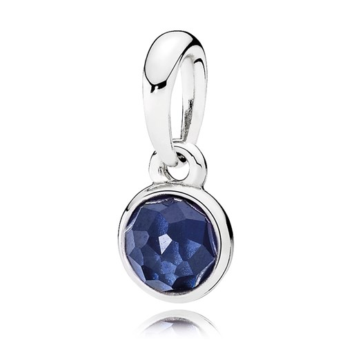 PANDORA September Droplet, Synthetic Sapphire Pendant