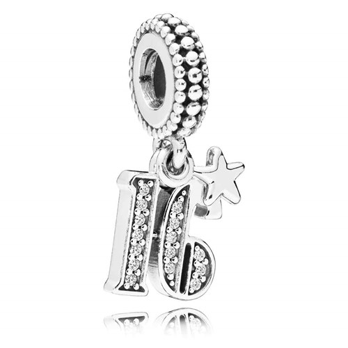 PANDORA 16 Years of Love Dangle Charm 797261CZ
